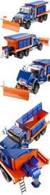 1 16th bruder man snow plow truck w working salt spreader toy