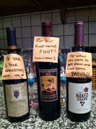 bridal shower gift find wines with appropriate names for each