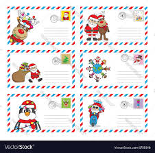 santa claus letters envelope to send letter to santa claus royalty free vector
