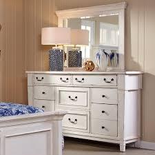 White Bedroom Dressers With Mirrors Folio 21 Stoney Creek Drawer Dresser W Mirror Great American