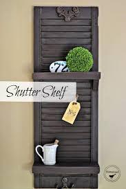 best 25 shutter shelf ideas on pinterest window shutter crafts