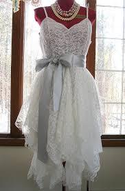 recycled wedding dresses white ivory tattered alternative boho bohemian hippie