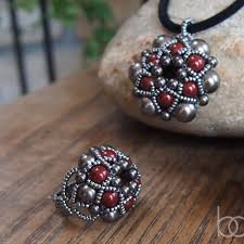 beading pattern necklace images Beading pattern dorothy ring and pendant beading tutorials jpg