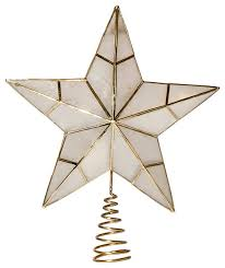 capiz tree topper contemporary ornaments by