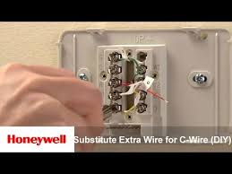 honeywell wi fi thermostat diy installation substitute extra wire