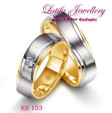 cincin cople cincin tunangan rr193 bahan emas perak palladium platina jogja