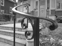 Curved Handrail Exterior Railings Antietam Iron Works
