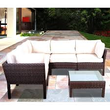 atlantic infinity 5 person resin wicker patio sectional set