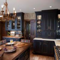 Distressed Black Kitchen Island Furniture For Rustic Kitchen Design And Decoration Using