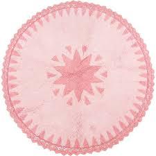 tapis chambre bébé fille tapis warren rond avec dentelles en coton pour chambre bébé