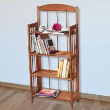 lavish home 4 shelf light solid wood bookcase walmart com
