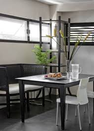 architecture black dining table set design ideas applied in