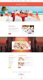 wedding planner responsive website template 47801