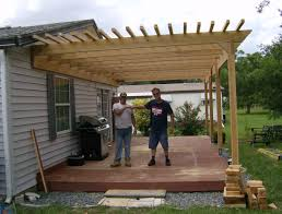 Covered Pergola Plans Home Design Attached Covered Pergola Plans Midcentury Expansive