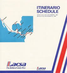 Avianca Route Map by Avianca Costa Rica Lacsa