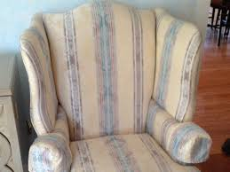 How To Reupholster A Wingback Armchair Cost To Re Upholster A Wing Chair