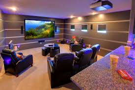 interior astounding living room with home theater decorating