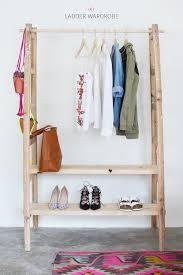 Diy Ladder Shelf Shelves Tutorials by Diy Ladder Wardrobe A Pair U0026 A Spare