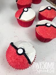 poké ball cupcakes sprinkles pokémon and pokemon party