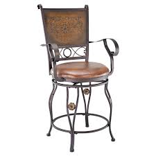 Stools With Backs Swivel Bar Stools With Backs And Arms Made Of Metal In Oil Rubber