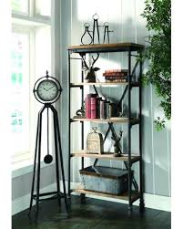 Reclaimed Wood And Metal Bookcase Bookcase Modern Metal Shelving Units Modern Metal And Wood