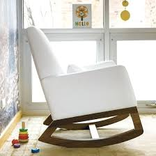 gray and white nursery rocking chair nursery rockers white leather