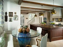 Eat In Kitchen Table Kitchen Table Decorations Ideas Kitchen Mediterranean With Glass