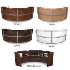 ofm 55292 marque double curved reception desk station