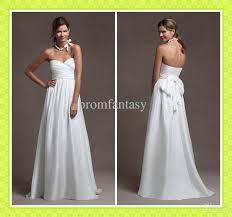 discount 2016 custom made simple beach wedding dresses casual sash