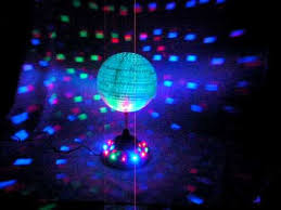 led disco ball light rotating 8 mirror disco party ball with color led lights youtube