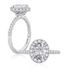 classic engagement ring a jaffe classics 14k white gold engagement ring setting