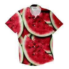 watermelon emoji watermelon invasion short sleeve button down shirt shelfies
