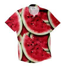 watermelon invasion short sleeve button down shirt shelfies