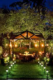 25 unique backyard lighting ideas on backyard