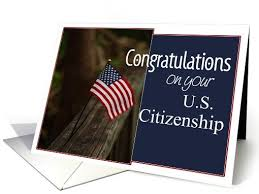 citizenship congratulations card congratulations on citizenship greeting card us citizenship