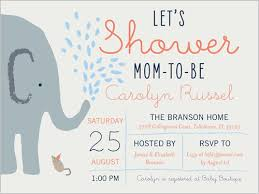 babyshower invitations elephant shower boy 4x5 greeting card baby shower invitations