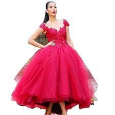 amazon com ccbubble tea length prom dresses 2017 appliques red