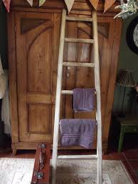 woods vintage home interiors large reclaimed wooden towel ladder by woods vintage home