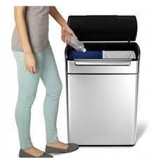 poubelle de tri selectif cuisine poubelle tri selectif touch bar 48 litres simplehuman 29 cm large