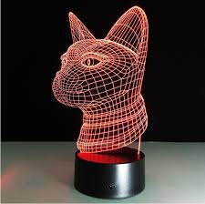 usb cat night light cat head diy 3d effect l night light usb acrylic led power bank