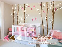 nursery wall decal baby white birch cuma wall decals