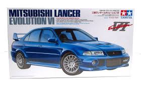 mitsubishi lancer evo 1 mitsubishi lancer evolution vi tamiya 24213 1 24 new car model kit