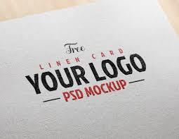free linen effect card logo mockup psd good mockups