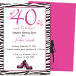 tips to write 40th birthday invitation wording all invitations ideas