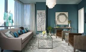 deco canape marron déco salon couleur peinture salon bleu pétrole canapé gris