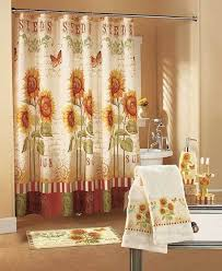 Bathroom Sets Shower Curtain Rugs Sunflower 19 Pc Valance Shower Curtain Towel Toilet Bathroom Bath