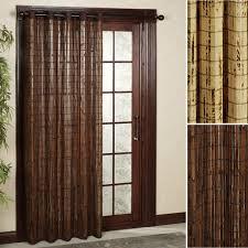Brown Patio Doors Bamboo Patio Door Grommet Panels Maybe For My Pinterest
