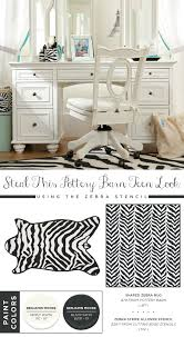 Pottery Barn Teen Rugs Steal These Pottery Barn Teen Looks Using The Zebra Stencil