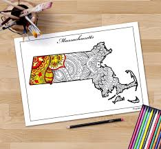 United States Travel Map by Massachusetts Map Coloring Page State Maps Maps As