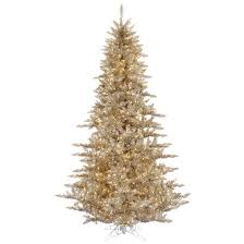 3ft chagne artificial tree with 100 clear dura lit
